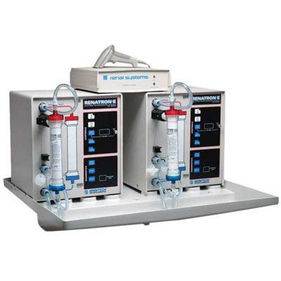 DTB renatron II system reprocesa dializadores usados por pacientes de hemodiálisis dando valiosos datos de registros