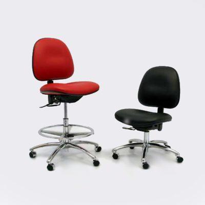 DTB silla stamina 3000 Clase 100 para cuarto limpio con capacidad de carga de 300 lb