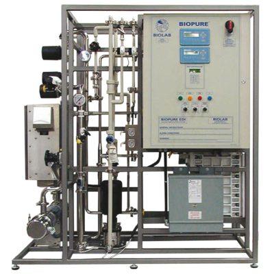 DTB ectrodeionization system edi para producción de agua ultrapura manteniendo las resinas purificadas sin regenerantes caústicos