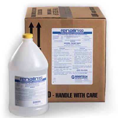 DTB renalin100 cada galón contiene 3,785 litros de Renalin 100 concentrado