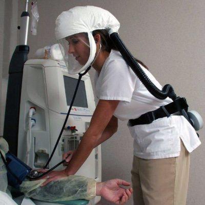 DTB respirador purificador de aire con motor compacto y ligero y una batería de litio