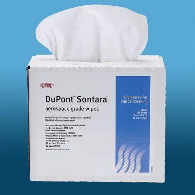 DTB wiper dupont sontara combina poliéster con rayón y niveles bajos de partículas y extractables