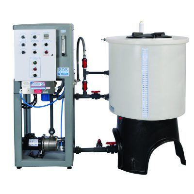 DTB single mix bicarb system distribuye bicarbonato y ácido concentrado con unidades resistentes a la oxidación