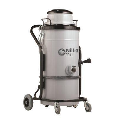 DTB aspiradora industrial monofásica para polvo y materiales secos modelo CFM 118