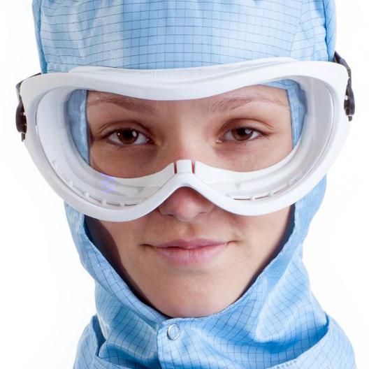 DTB bioclean goggles lavables de caucho termoplástico con sistema de ventilación y policarbonato anti rayaduras