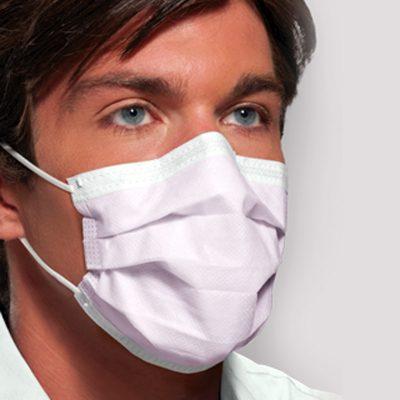 DTB cubrebocas para cuidado de personal hospitalario apto para cuarto limpio y procedimientos con baja cantidad de rocío y/o aerosoles.